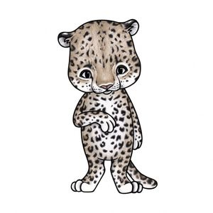 Bilde av Lux The Leopard - Wallsticker - Stickstay