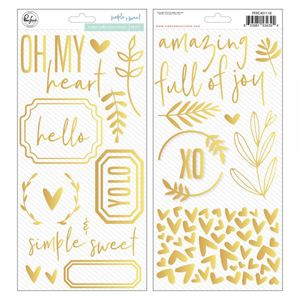 Golden puffy accent stickers - simpel & sweet