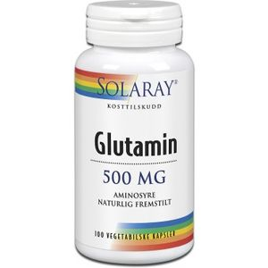 Bilde av Glutamin Aminosyre 500 mg. Solaray