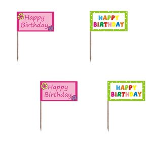 Bilde av 20 partypinner, happy birthday, 8cm