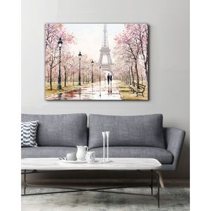 Bilde av Paris by spring, Lerret 75x100 cm