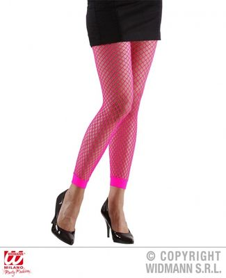 Neonfargede netting leggings,  rosa