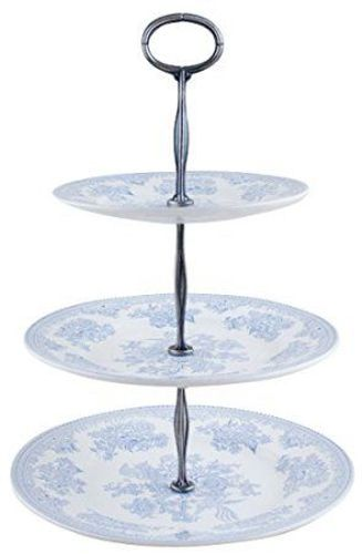 Blue Asiatic Pheasants 3 tier cake stand