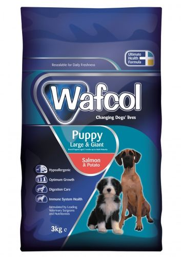 Wafcol Sensitiv Laks & Potet, Puppy Large/Giant 2,5kg