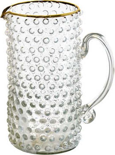 GreenGate mugge Jug clear with gold 1 liter
