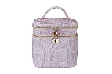 BEAUTY BAG SNAKE STRUKTUR <BR> SWEET ROSE