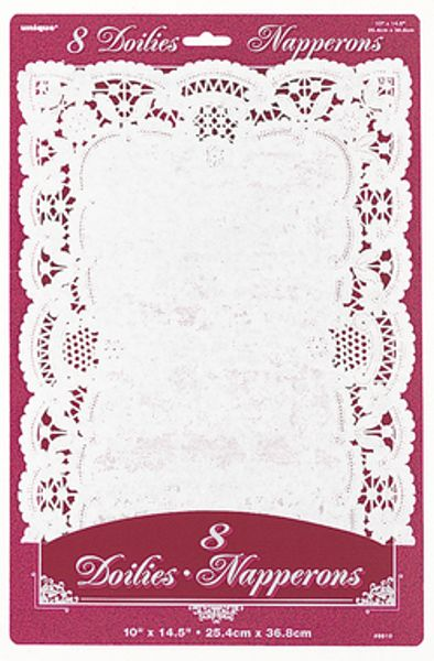 8 White Placemat Doilies