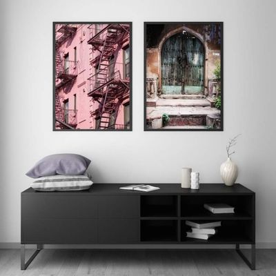 Bilde av PINK FIRE ESCAPE POSTER