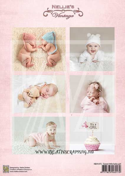 Nellie Snellen - Klippeark NEVI075 - SWEET Little BABY GIRL