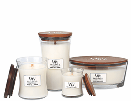 WoodWick duftlys - White tea & Jasmin