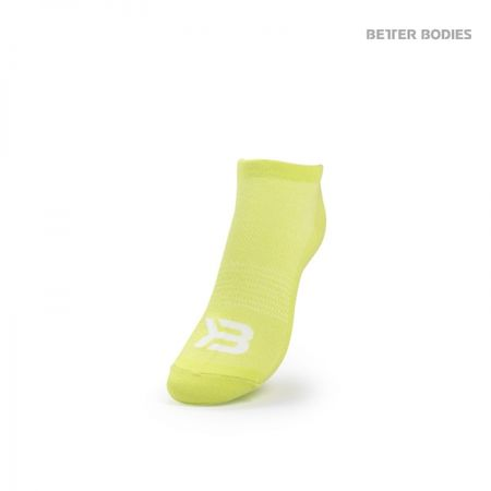 Better Bodies - Short Socks - Pink/Lime