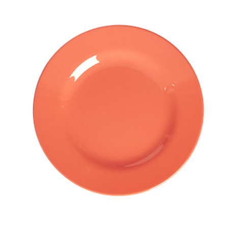 RICE Melamine Side Plate in Pastel Neon Coral MESPL-PNCO