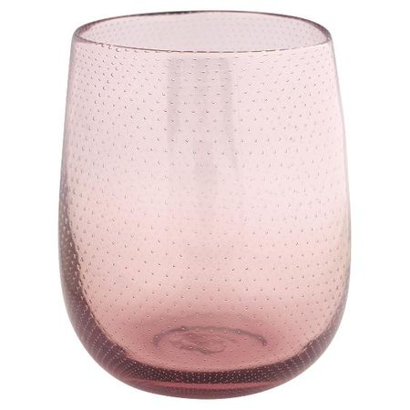 Greengate vase round pale pink with dots