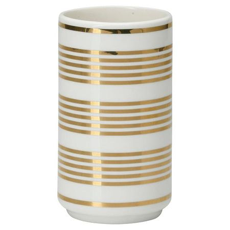 GreenGate vase Stripe gold