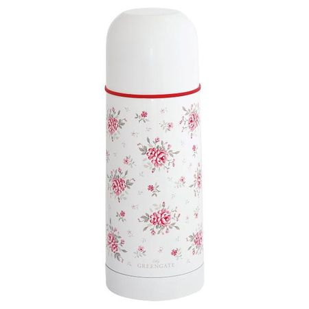 Greengate termos Flora white 3dl