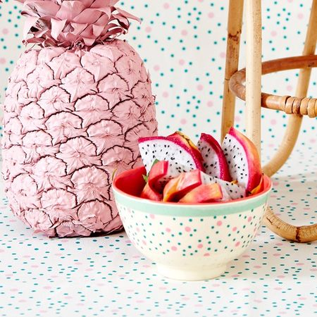 Rice small melamine bowl connecting dots