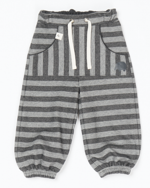 bukse hillan baggy phantom melange striped
