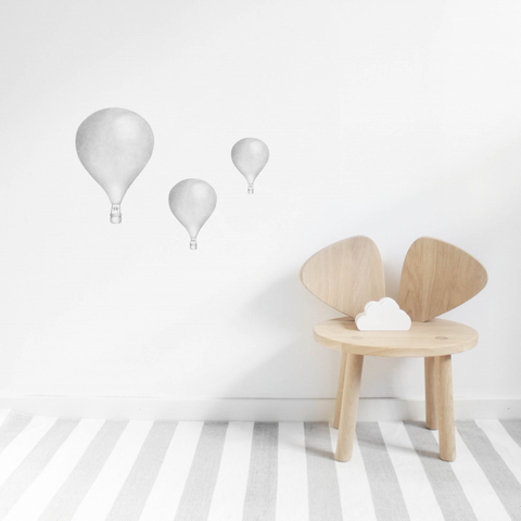 Bilde av Wallsticker - Light Grey Balloons - Stickstay
