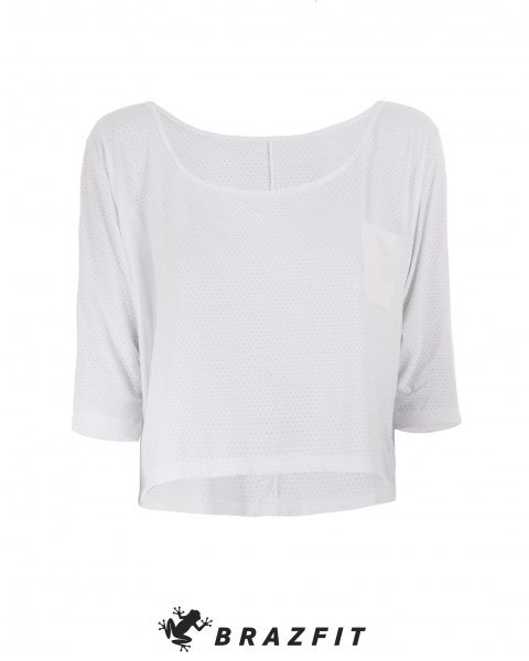 Club Loose White Sleeve Sweater