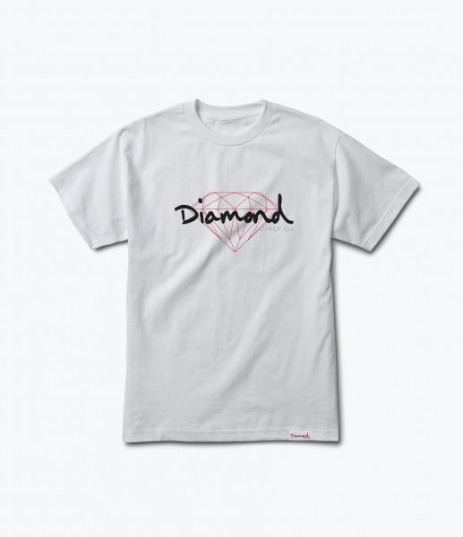 T-skjorte - Diamond Brilliant Script Tee / White
