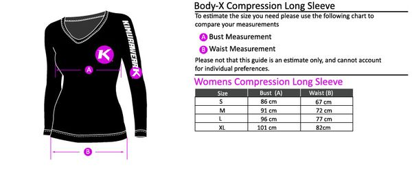 Kimurawear Womens Rashguard L/S Body-X Series, str. S