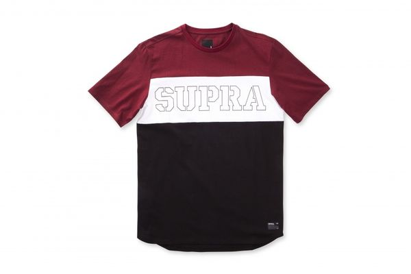 T-skjorte - Supra Tri Color Block / Burgundy