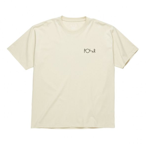T-skjorte - Polar WORLD FILL LOGO TEE / SAND