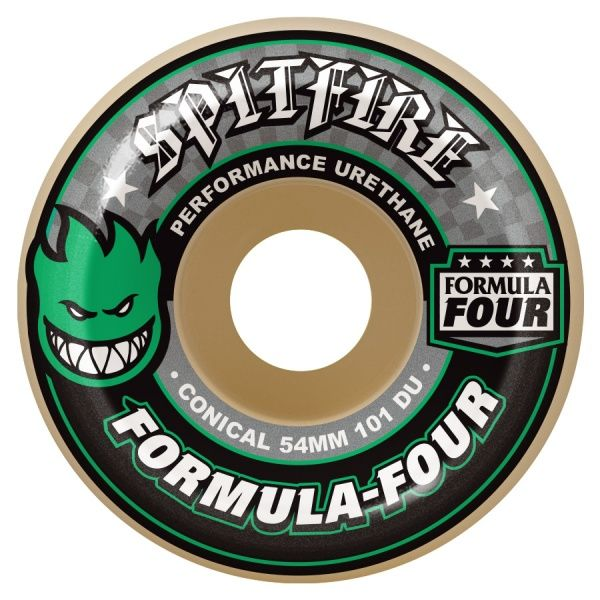 Skateboard Hjul - Spitfire 52mm Conicals 101 Duro / Green