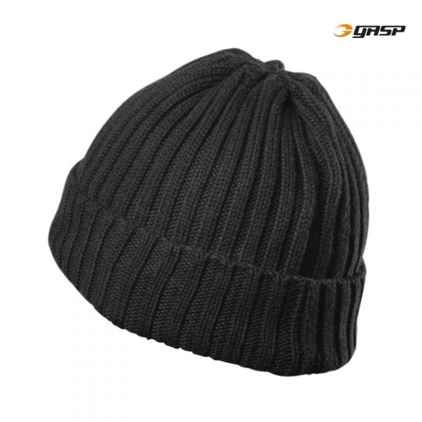 GASP Heavy Knitted Hat Svart