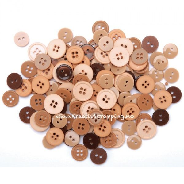 BUTTONS - Favorite findings  - NATURAL - 130 stk