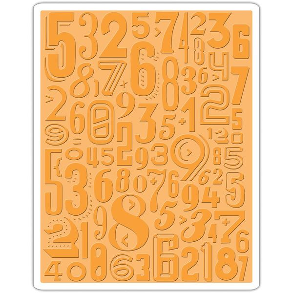 Sizzix Texture Fades A2 Embossing Folder - Numeric