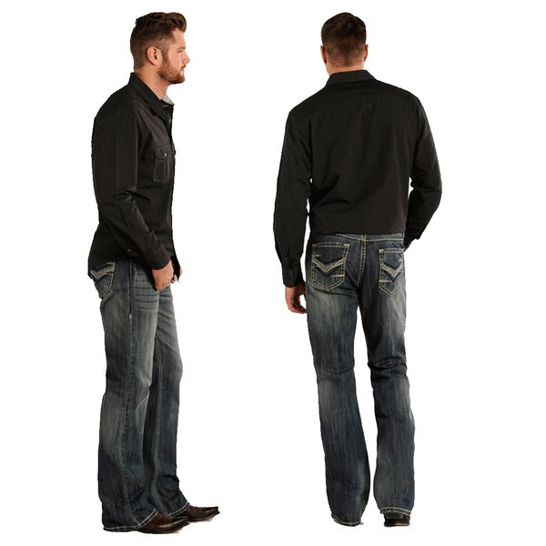 Rock & Roll Cowboy Double Barrel Relax Fit V