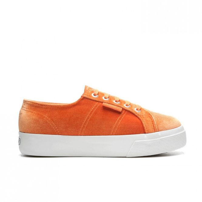 Bilde av Sko - Superga Velvet Orange