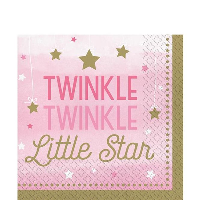 Bilde av Little Star Girl Servietter Twinkle 16-pk