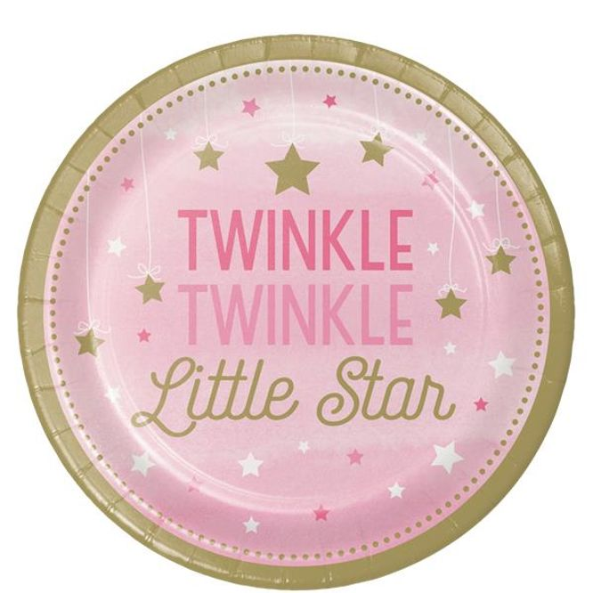 Bilde av Little Star Girl Papptallerken 8 pk