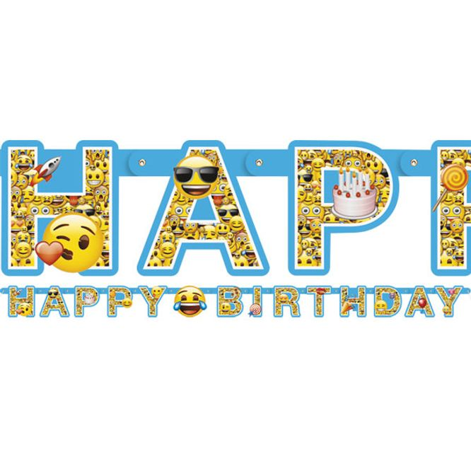 Bilde av Emoji banner Happy Birthday