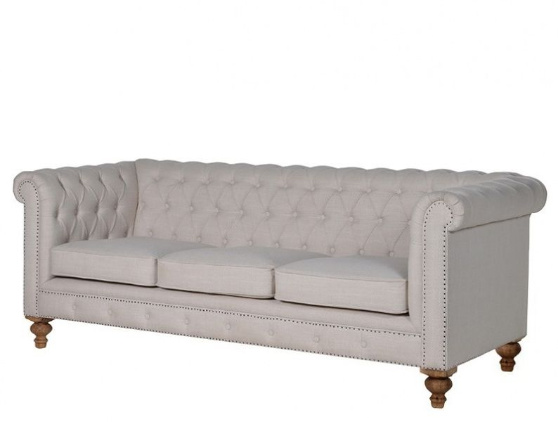 CHESTERFIELD 3S LINNEN SOFA