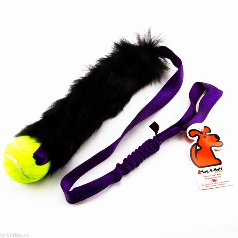 Bilde av Tug-E-Nuff Sheepskin Bungee Chaser with tennis ball