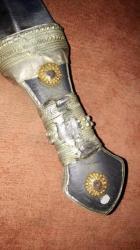 خنجر فضه مرصع بالذهب اليمني القديم
