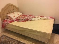 single bed with medical mattress سرير مع مرتبه طبيه