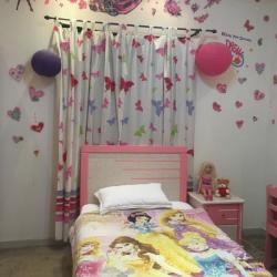 غرفة نوم فردي  مستعمله  لون زهري بالرياض حي قرطبه