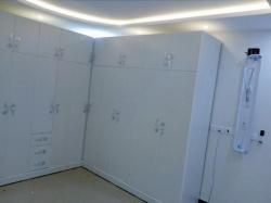 غرفة نوم  نفرين 2×2 ودولاب زاوية 3.5×3متر وتسريحة و2كمدينة وشفنيرة