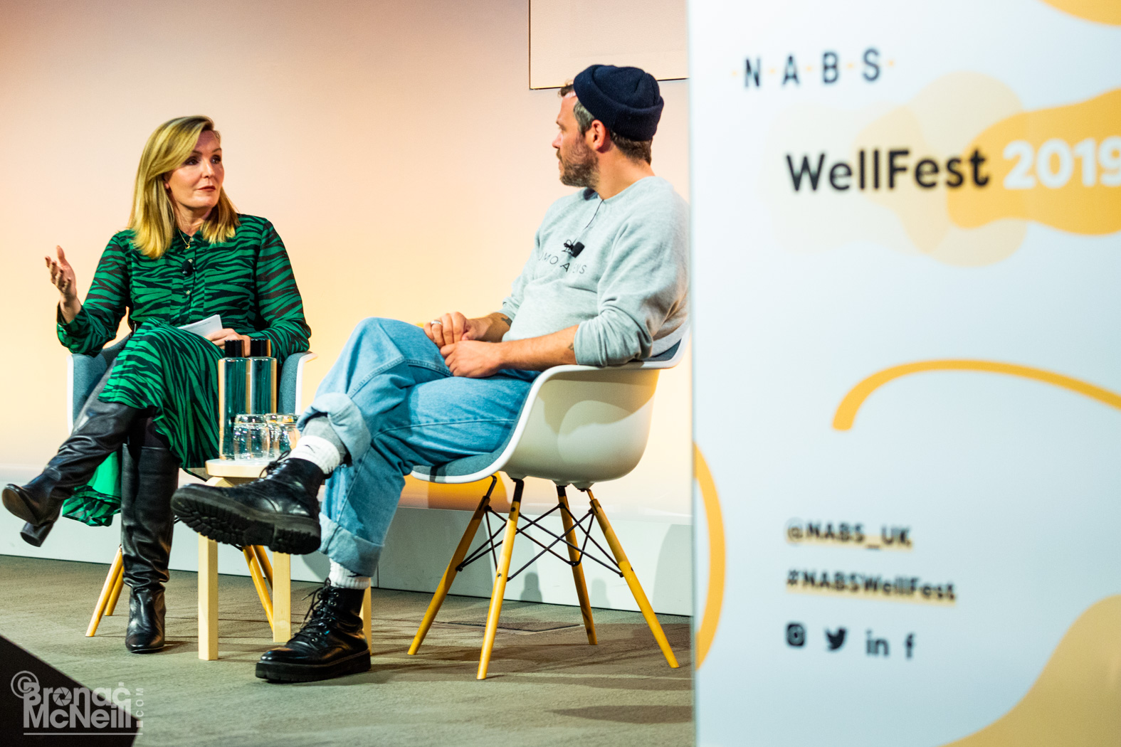 Claire Sanderson interviewing Will Young