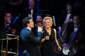 with Seth MacFarlane, performing at Royal Albert Hall, London (BBC Proms 2015)