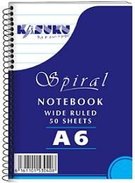 Kasuku Spiral Notebook A6 50 Pages