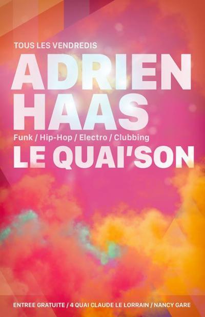 affiche_Clubbing w/ Adrien Haas