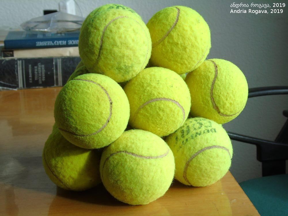 16 tennisballen structuur