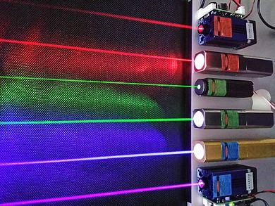 Verschillende kleuren lasers