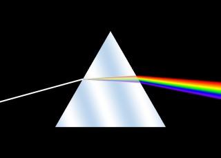 Breking van het licht in prisma.