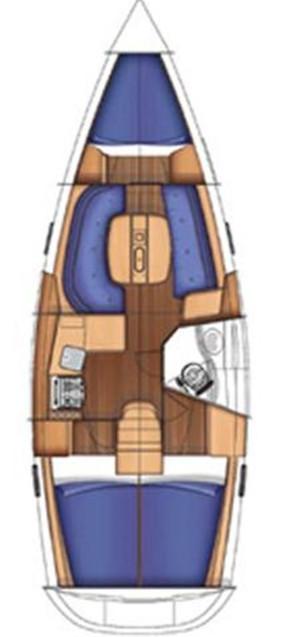 Oceanis Clipper 343, Pape